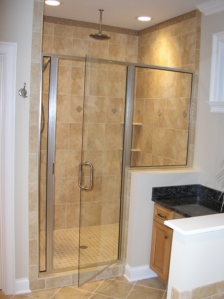 Home features for Master bathroom glass doors